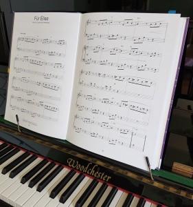 piano keys and music